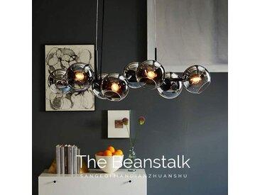 ZMH LED Pendelleuchte »Glas Kugel Leuchte Pendellampe Hängellampe LED Wohnzimmerlampe Schlafzimmerleuchte Innenleuchte«, grau, Rauchgrau