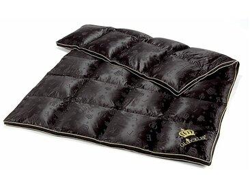 GLÖÖCKLER by KBT Bettwaren Gänsedaunenbettdecke, »Seiden Luxus«, warm, Füllung: 90% Gänsedaunen, 10% Federn, Bezug: 52% Seide, 48% Baumwolle, (1-tlg)