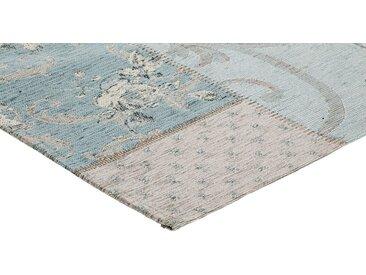 heine home Teppich Vintage Patchwork Design, blau, bleu/natur