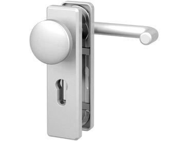 BASI Türbeschlag »ES1 Wechselgarnitur, Aluminium silber, eckig«, Feuerschutz-Türbeschlag FS 2200, silberfarben, silberfarben