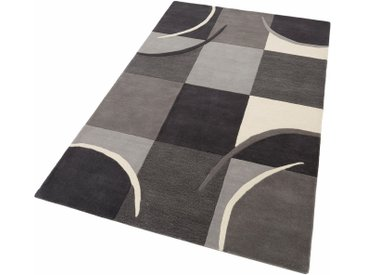 Theko Exklusiv Wollteppich »Magnus«, rechteckig, Höhe 13 mm, reine Wolle, Wohnzimmer, grau, grau