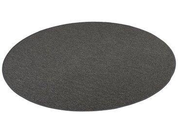 Snapstyle Designteppich »Bentzon Natur Flachgewebe Teppich Rund«, Rund, Höhe 5 mm, grau, Anthrazit