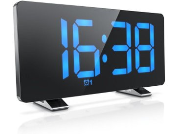 BEARWARE digitaler Radio Wecker »Autodimmer – Snooze 5-60 min – 15 FM Radiospeicher«, schwarz, schwarz