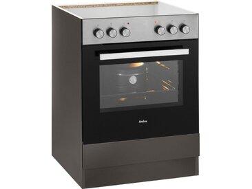 wiho Küchen Herdumbauschrank »Cali« 60 cm breit, ohne Arbeitsplatte, grau, Anthrazit Glanz/Anthrazit