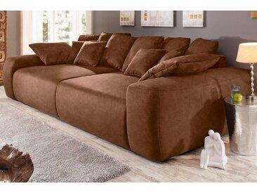 Home affaire Big-Sofa, Breite 302 cm, Lounge Sofa mit vielen losen Kissen, braun, mocca