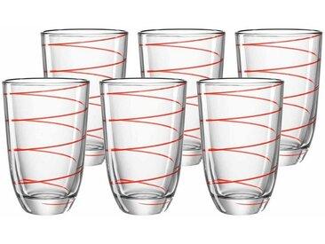montana-Glas Geschirr-Set »Montana JOLLY Trinkglas rot 430 ml 6-tlg.« (6-tlg), Glas