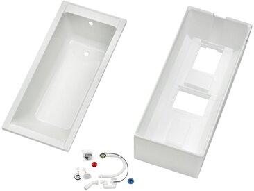 OTTOFOND Badewanne »Set Körpferformbadewanne«, (3-tlg), 1600/700/400 mm, Körperformbadewanne