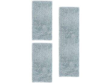 LUXOR living Bettumrandung »Levanto Deluxe« , Höhe 58 mm, besonders weich durch Microfaser, mit Glanzgarn, blau, türkis