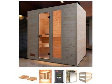 weka WEKA Sauna »Lars Trend 2«, 189x189x204 cm, 7,5 kW Bio-Kombiofen mit ext. Steuerung, natur, 7,5 kW Bio-Kombiofen mit externer Steuerung, natur