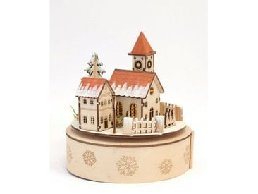 HGD Holz-Glas-Design Spieluhr Weihnachtsstadt, natur, Natur