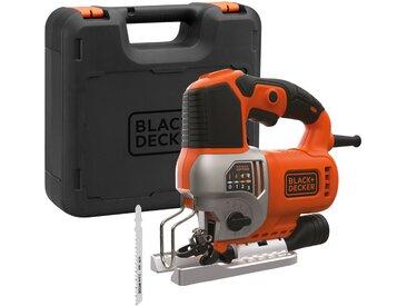 Black + Decker BLACK + DECKER Pendelhubstichsäge 650 W, elektrisch, orange, Ohne Akku, orange