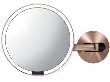 simplehuman Spiegel »20cm Sensorspiegel mit Wandaufbau wiederaufladbar«, goldfarben, roségoldfarben