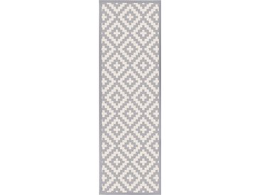 andas Läufer »Tomke«, rechteckig, Höhe 7 mm, Wendeteppich mit zwei Designs, grau, grau-weiß