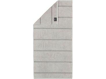 Cawö Badetuch »Carat Allover« (1-St), mit glitzer Streifen, grau, platin