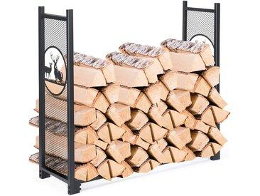 COSTWAY Kaminholzregal »Brennholzregal«, Metall Kaminholzregal Feuerholzständer Kaminholzständer