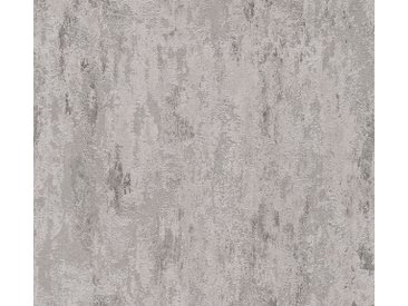 A.S. Création Vinyltapete, Unitapete Grau Papiertapete 326516 Wandtapete Modern Tapete Uni