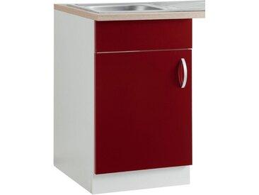 wiho Küchen Spülenschrank »Flexi« Breite 50 cm, rot, Rot Glanz