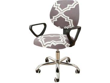 TOPMELON Bürostuhlhusse, (2-tlg/ Paar) Elastisches Material, Bürostuhlbezug, Geteilter Stuhlbezug, grau, Grau#4