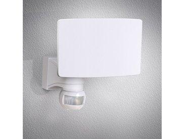 B.K.Licht LED Außen-Wandleuchte, Außenstrahler mit Bewegungsmelder Wandlampe Sensor Hausbeleuchtung 20W 2300 Lumen IP44 weiß
