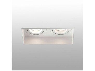 FARO Barcelona Einbauleuchte »HYDE 2-flammig GU10 IP20 Weiß«