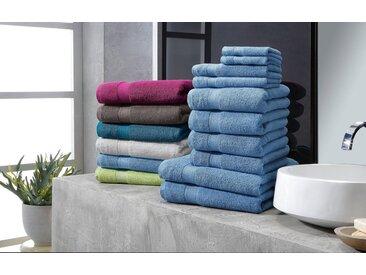 my home Handtuch Set »Moni« (Set, 10-tlg), in Premium-Qualität, blau, blau