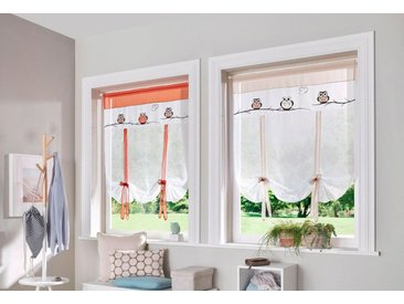 my home Scheibengardine »Java«, Stangendurchzug (1 Stück), Fertiggardine, transparent, weiß, weiß-sand