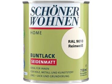 SCHÖNER WOHNEN-Kollektion SCHÖNER WOHNEN FARBE Lack »Home Buntlack«, seidenmatt, 750 ml, reinweiß RAL 9010, weiß, weiß