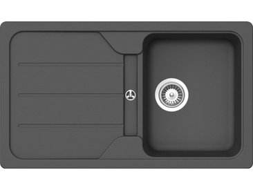 Schock Granitspüle »Formhaus«, rechteckig, schwarz, schwarz