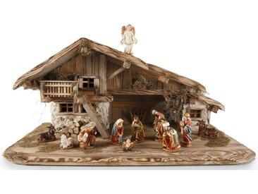 Krippe »Inzell«, Stall ohne Figuren, H/B: 40/80 cm, Made in Germany, Echte Handarbeit