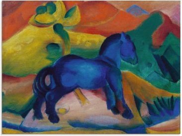 Artland Glasbild »Blaues Pferdchen Kinderbild. 1912.«, Tiere (1 Stück)