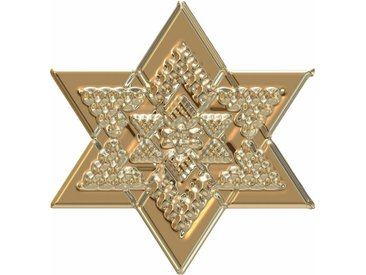 Wall-Art Wandtattoo »Metallic Star Gold«