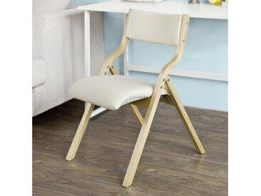 SoBuy Klappstuhl »FST40« Küchenstuhl mit gepolsterter Sitzfläche und Lehne, weiß, weiß