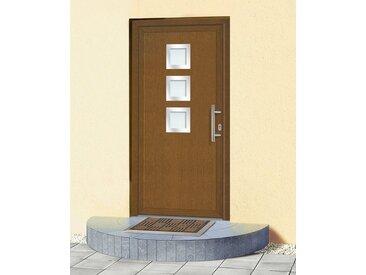 KM Zaun KM MEETH ZAUN GMBH Kunststoff-Haustür »KT34«, BxH: 98x198 cm, braun, in 2 Varianten, braun, rechts, braun