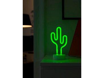 KONSTSMIDE LED Schlauchsilhouette Kaktus, weiß, Lichtquelle grün, Weiß