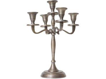 MCW Kerzenhalter »-D81-31«, Massiv, Mit stabilem Standfuß, Tropfschutz für Kerzenwachs, goldfarben, antik-goldfarben