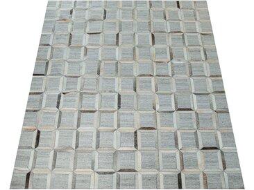 Paco Home Fellteppich »Western 704«, rechteckig, Höhe 10 mm, Material: echtes Rinderfell und Wolle