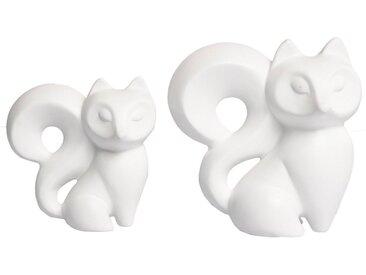 VALENTINO Wohnideen Dekofigur »Fuchs Lady Trixy« (Set, 2 Stück), in verschiedenen Größen (Höhe 13 + 16 cm)
