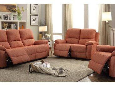 Home affaire 3-Sitzer »Marina«, mit Relaxfunktion und Federkern-Polsterung, orange, terra