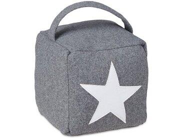 relaxdays Bodentürstopper »Türstopper Stern mit Griff«, grau, Grau