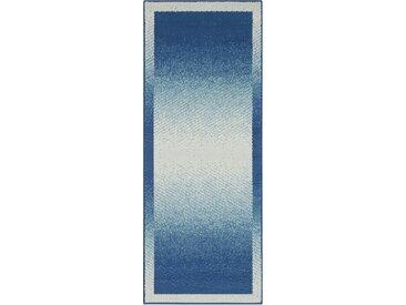 DELAVITA Läufer »Simon«, rechteckig, Höhe 8 mm, Kurzflor, blau, jeansblau