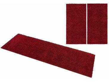 Home affaire Bettumrandung »Shaggy 30« , Höhe 30 mm, rot, bordeaux