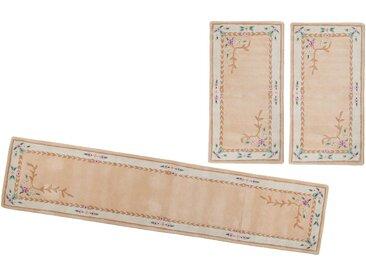 THEKO Bettumrandung »Lifou« , höhe 14 mm, (3-tlg), reine Schurwolle, handgewebt, rosa, beige