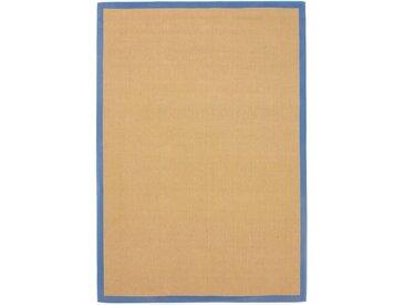 carpetfine Sisalteppich »Sisal«, rechteckig, Höhe 5 mm, blau, blau