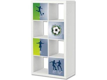 STIKKIPIX Möbelfolie »ER04«, Fußball Möbelfolie, Aufkleber-Set passend für das Regal EXPEDIT/KALLAX von IKEA (Möbel Nicht inklusive)