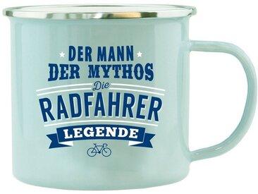 HTI-Living Becher »Echter Kerl Emaille Becher Radfahrer«