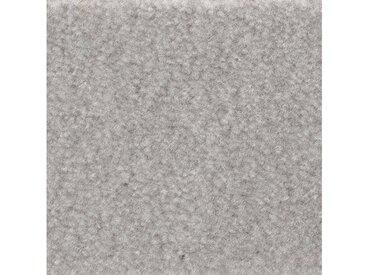 Bodenmeister BODENMEISTER Teppichboden »Velours gemustert«, Meterware, Breite 400/500 cm, grau, grau/weiß