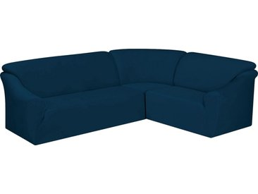 Dohle&Menk Sofahusse »Susi«, samtige Microfaserware, blau, Ecksofahusse, dunkelblau