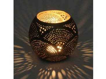 Casa Moro Windlicht »Orientalische Silber-Laterne Windlicht Melis aus versilbertem Messing, Echte Handarbeit - Kunsthandwerk aus dem Orient