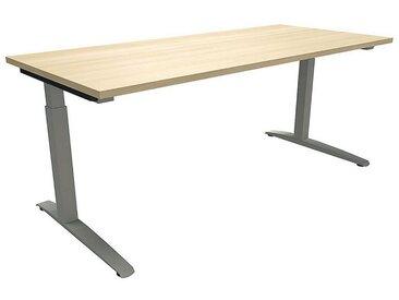 FMBUEROMOEBEL Manuell höhenverstellbarer Schreibtisch 180 cm C-Fuß Quadratro »Sidney«, bunt, königsahorn