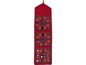 Guru-Shop Wandteppich »Spiegel Wandtasche, Wand Aufbewahrung,..«, Höhe 70 mm, pink-mehrfarbig